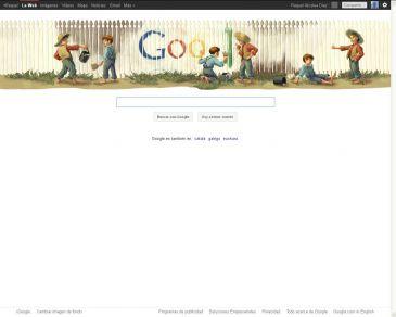 """Google dedica el """"Doodle"""" de hoy a Mark Twain"""