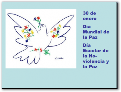 30 DE ENERO: DÍA ESCOLAR DE LA NO VIOLENCIA Y LA PAZ